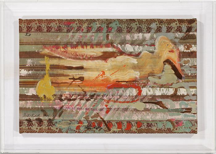 Ente, 1986 - 1988, Dieter Roth (*Hannover 1930 - 1998 Basel) und Björn Roth (Reykjavik *1961), Öl auf Leinentuch über Keilrahmen, 42 x 65 cm