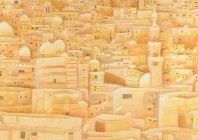 Cairo, 2007, Acryl auf Leinwand, 110,5 x 210,5 cm