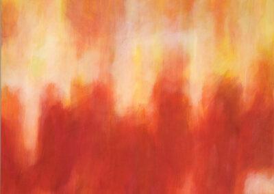 Rojo, 2003, Acryl auf Leinwand, 120 x 120 cm