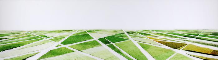 Polders (NL), 2011, verso signiert und nummeriert, Diasecverfahren, 75 x 270 cm, 3/3