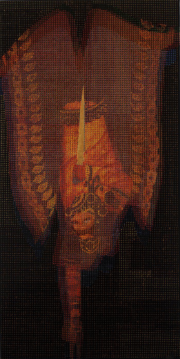 Serie Dancing the Sharp Edge, 2011, Untitled, Öl auf Leinwand, polarisiert, 100 x 200 cm