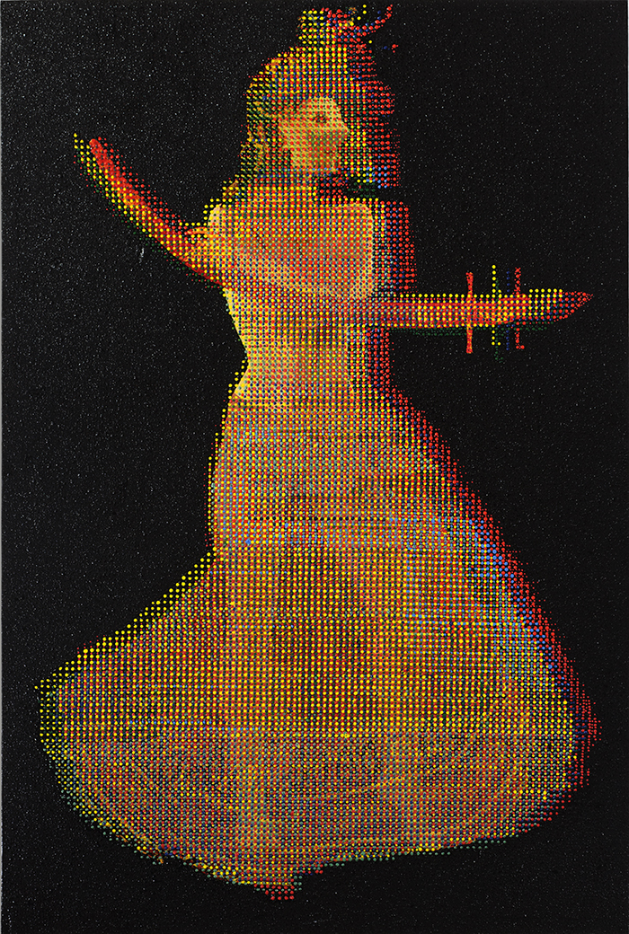Serie Dancing the Sharp Edge, 2011, Untitled, Mischtechnik, polarisiert, 150 x 100 cm