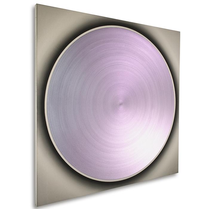 ZF Turquoise Dance With Purple red, 2008, Acryl auf Leinwand, 160 x 160 cm, links