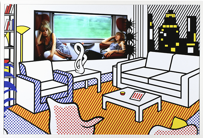 Interior with Video Art, 2009, Forex printed board, Wood frame, Video 2:58 min., 100 x 150 x 5,5 cm, Signed verso and numbered, 5/5 + 2 AP
