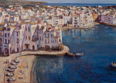 Blau, oil on canvas, 60 x 130 cm