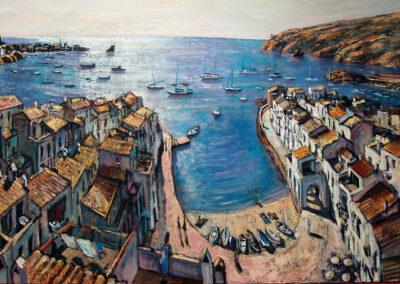 Port d'Oger, oil on canvas, 97 x 146 cm