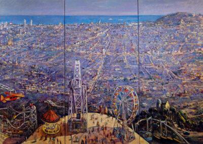 BCN Triptico, oil on canvas, 196 x 291 cm