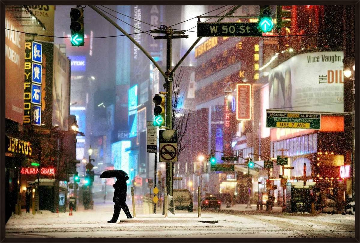 Times Square Snow Show, 2011, Lambda Color Photograph, 160 x 240 cm
