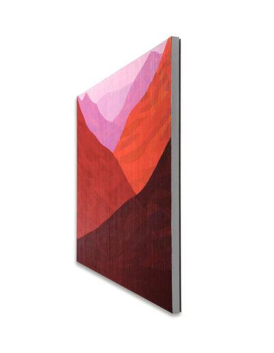 Das Glücksgefühl lässt sich noch steigern, 2011, Verso signiert, Acryl mit Pigment auf Zellulose auf Leinwand, 90 x 120 cm, rechts