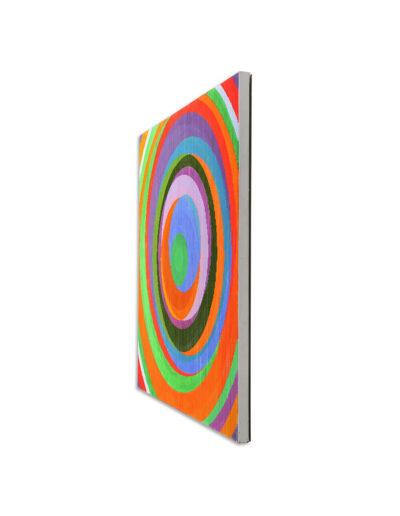 Kopf hoch, wenn's mal schief läuft, 2011, Verso signiert, Acryl auf Leinwand, 90 x 90 cm, rechts