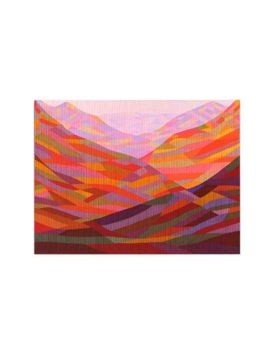 Das Glücksgefühl lässt sich noch steigern, 2011, Verso signiert, Acryl mit Pigment auf Zellulose auf Leinwand, 90 x 120 cm