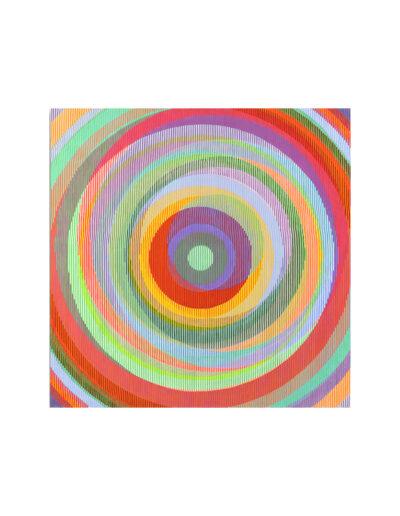 Kopf hoch, wenn's mal schief läuft, 2011, Verso signiert, Acryl auf Leinwand, 90 x 90 cm