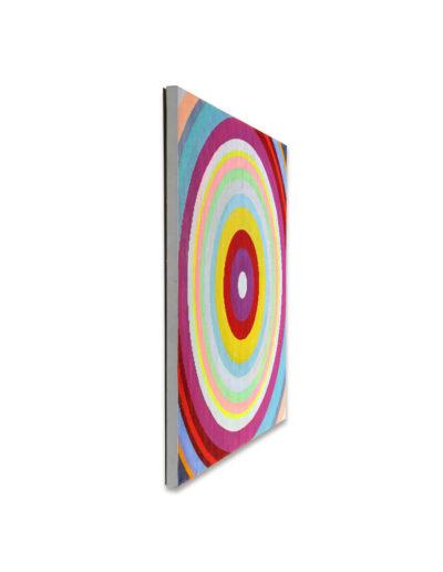 Kopf hoch, wenn's mal schief läuft, 2011, Verso signiert, Acryl auf Leinwand, 90 x 90 cm, links