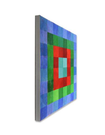 Das Leben ist hart, der Maler hilft, 2011, Verso signiert, Acryl auf Leinwand, 90 x 120 cm, links